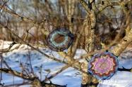 """Knitting pattern for fancy hat """"Stereum ostrea"""""""
