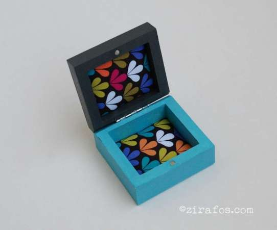 small colourful wooden box