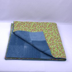 Recycled Denim throw, Blue jean quilts