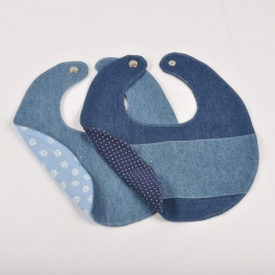 Denim baby bibs (recycled jeans)