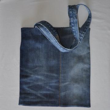 Denim shopping bag, tote bag